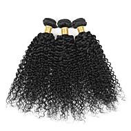 3 Peças Kinky Curly Tramas de cabelo humano Cabelo Brasileiro 100g per bundle 8inch-28inch Extensões de cabelo humano