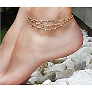 女性 アンクレット/ブレスレット 合金 両面 欧風 手作り コスチュームジュエリー ジュエリー 用途 日常 カジュアル ビーチ