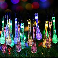 super størrelse galaxy jul dråber lys streng af farvet lys 2 meter 20 hoved batteri kasse med lamper 2.3meter
