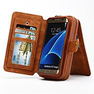multi-funcional caso genuíno carteira de couro portátil removível para Samsung Galaxy S8 S4 S5 S6 borda mais borda s7