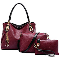 Women Bags All Seasons Cowhide Bag Set with for Casual Outdoor Blue Blushing Pink Wine Light Blue Dark Gray
