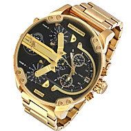 Pánské Vojenské hodinky Hodinky k šatům Módní hodinky Náramkové hodinky Křemenný Kalendář Hodinky s dvojitým časem Punk Slitina Kapela