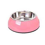 犬 フィーダ ペット用 ボウル&摂食 携帯用 ランダムカラー ステンレス鋼