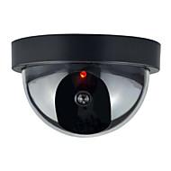 1db beltéri kültéri CCTV hamis színlelt dome biztonsági kamera flahsing piros led
