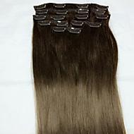 # 4 22 인치 레미 진짜 머리 연장 형 인간의 머리카락 확장 소재 스타일의 단위 중량 (g) 길이 범위 머리 확장