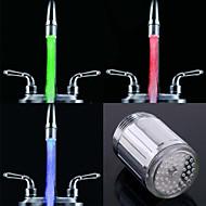 rc-F902 tyylikäs vesisuihkua värikäs valoisa led hana valo (muovi, kromattu)