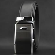 Men Luxury Automatic Buckle Business Waist Belt Work / Casual Alloy / Leather Black All Seasons