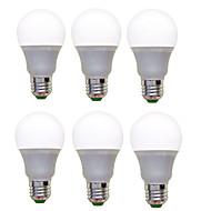 12W E26/E27 LED kulaté žárovky A60(A19) 12 SMD 2835 1200 lm Teplá bílá Chladná bílá Ozdobné AC 220-240 V 6 ks