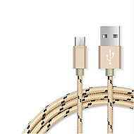 USB 2.0 Gevlochten Kabel Voor Samsung Huawei HTC Lenovo Xiaomi 100 cm Nylon