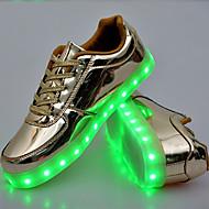 Unissex-Tênis-Conforto Inovador Light Up ShoesDourado Prata-Couro Ecológico-Ar-Livre Casual Para Esporte