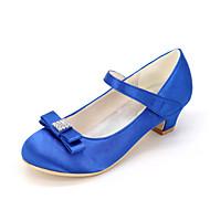 Para Meninas Saltos Sapatos para Daminhas de Honra Seda Primavera Verão Outono Casamento Festas & Noite Sapatos para Daminhas de Honra