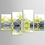 Abstraktní Květinový/Botanický motiv Moderní Realismus,Čtyři panely Plátno jakýkoliv tvar Grafika Wall Decor For Home dekorace