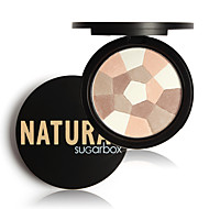 1Pcs Sugar Box Multi-Colored Pressed Powder Nude Wear Nude Glow Finishing Perfescting Setting Powder