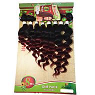 Nyanse Brasiliansk hår Løse bølger 6 måneder 1 Deler hår vever