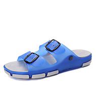 Αντρικό Παπούτσια PVC Άνοιξη Καλοκαίρι Φθινόπωρο Ανατομικό Παντόφλες & flip-flops Περπάτημα Αγκράφα Για Causal Σκούρο μπλε Καφέ Βαθυγάλαζο