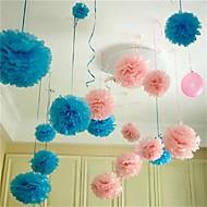 10pcs 25 centímetros * 25 centímetros bolas de flores de papel baratos para casamento casa decoração do carro partido artesanato