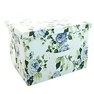 raylinedo® 26L szimulált bélés strapabíró szövetből összecsukható tároló doboz ruhát takaró szekrényben pulóver szervező vászon virágok