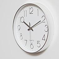 Moderne/Contemporain Décontracté Bureau / Affaires Vacances Musique Famille Horloge murale,Rond Bois 30*30 Intérieur/Extérieur Intérieur
