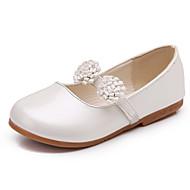 Sandaalit-Tasapohja-Tyttöjen-PU-Valkoinen Musta Pinkki-Häät Puku Juhlat