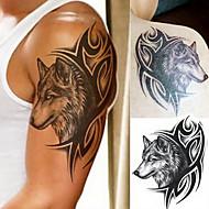 1 Acțibilde de Tatuaj Serie de Animale Serie de totemuri Waterproof 3-DBărbați Adolescent tatuaj flash Tatuaje temporare