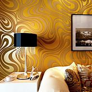 Floral Imagine de Fundal Pentru acasă Contemporan Placare a peretilor , Hârtie nețesută Material adeziv necesar tapet , Tapetul camerei