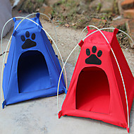 Kočka Pes Stříška Skládací Stříška Červená Modrá Látka