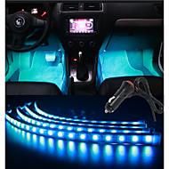 30cmx4 rgb pružné pásy hudba ovládání vozu atmosféra interiéru světlo nohy light