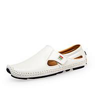 Heren Loafers & Slip-Ons Comfortabel Duikschoenen PU Lente Zomer Causaal Feesten & Uitgaan Comfortabel Duikschoenen Wit Zwart Donkerblauw