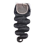 3.5x4 pitsi sulkemiseen valkaistu solmua Brasilian neitsyt hiukset sulkeminen vauvan hiukset mustien naisten maksuttoman kuljetuksen