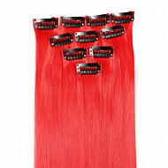 neitsi 10pcs 18inch destaque colorido sintético grampo em extensões no cabelo vermelho