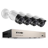 Zosi® 4ch 1080p tvi dvr 2.0mp 1080p cctv camera p2p домашние наружные камеры видеонаблюдения системы видеонаблюдения