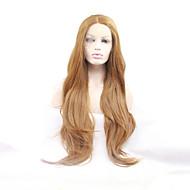 Žene Sintetičke perike Lace Front Dug Prirodne kovrče Jagoda blond Prirodna linija za kosu Srednji dio Prirodna perika Halloween paru