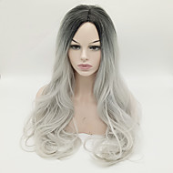 Cheap Women Synthetic Wig Black Grey Ombre Color Long Wave Women Wigs Heat Resisting Wigs