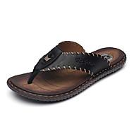 Αντρικό Σανδάλια Τυπική παπούτσια Δερμάτινο Καλοκαίρι Φθινόπωρο Ύπαιθρος Καθημερινό Μαύρο Βαθυγάλαζο 2,5εκ - 4,5εκ