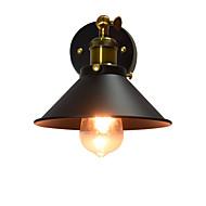 Ac220v-240v 4w e27 levou luz pintura única parede lâmpada de parede de ferro lâmpada muda de lightsaber preto na parede