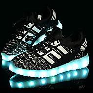 Jongens Sneakers Comfortabel Eerste schoentjes Oplichtende schoenen Tule Lente Zomer Herfst Sportief Causaal LED Lage hakZwart Blauw Roze