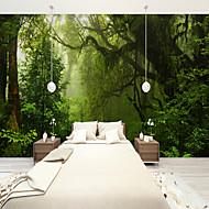 Árvores/Folhas 3D Papel de Parede Para Casa Regional Revestimento de paredes , Tela Material adesivo necessário papel de parede ,