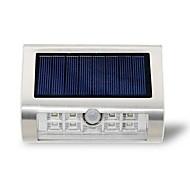 Solar 9led lâmpada de parede lâmpada ao ar livre lâmpada de corpo de aço inoxidável sensor de infravermelho sensor lâmpada jardim luzes