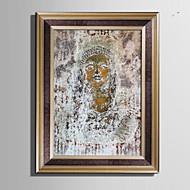 Abstract Stilleven Ingelijst canvas Ingelijste set Muurkunst,PVC Materiaal Bruin Zonder passepartout Met frame For Huisdecoratie
