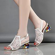Femme-Mariage Habillé Soirée & Evénement--Gros Talon-Confort Nouveauté club de Chaussures-Sandales-Tulle Microfibre