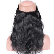 Brasilian neitsyt hiuksista sulkeminen pre kynitty 360 pitsiä edestä sulkeminen vauvan hiukset kehon aalto 360 pitsiä sulkeminen blenched