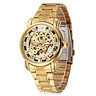 WINNER Férfi Karóra mechanikus Watch Automatikus önfelhúzós Üreges gravírozás Rozsdamentes acél Zenekar Luxus Arany Arany