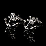 Silver Boat Anchor Cuff links Shirt French Cufflinks Gifts Men Jewelry Metal Cuffs Buttons Man Jewelry Shirt Sleeve Buttons