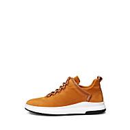 Sneakers-Ruskind-Komfort Lysende såler-Herrer-Sort Grå Jord Gul-Udendørs Fritid-Flad hæl