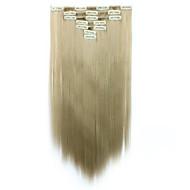 Clip In Synthetic Hiuspidennykset Hiusten pidennys