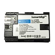 Ismartdigi lpe6n μπαταρία φωτογραφικής μηχανής για canon eos 90d 80d 70d 60d 5d4 5d3 5d2 5d 7d