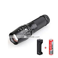 פנס LED LED 3000 Lumens 5 מצב Cree T6 18650 AAA 26650 מיקוד מתכוונן עמיד לחבטות אחיזה נגד החלקה עמיד במים Zoomable Strike Bezel גודל