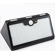 Luzes solares luzes do sensor do corpo humano quatro em um outdoor 60led impermeável luzes do pátio solar 4800mah