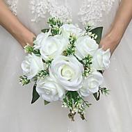 Bryllupsblomster Rund Roser Buketter Bryllup Sateng 8.66 tommer (ca. 22cm)