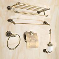 Zestaw akcesoriów łazienkowych / Mosiądz antycznyMosiądz /Antyczny